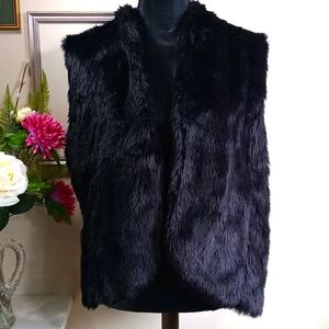 Fuzzy black sweater vest